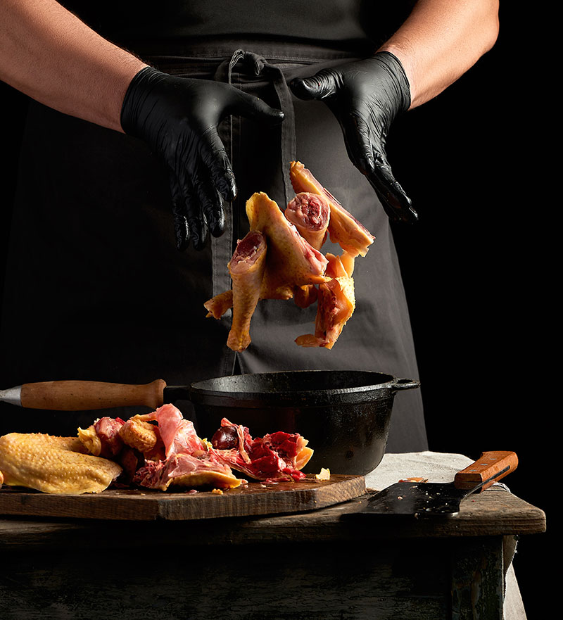 Pollería a domicilio en Madrid. Pollería en Móstoles. Muslitos de pollo, hamburguesas de pollo, alitas de pollo, pechuga de polloollo,